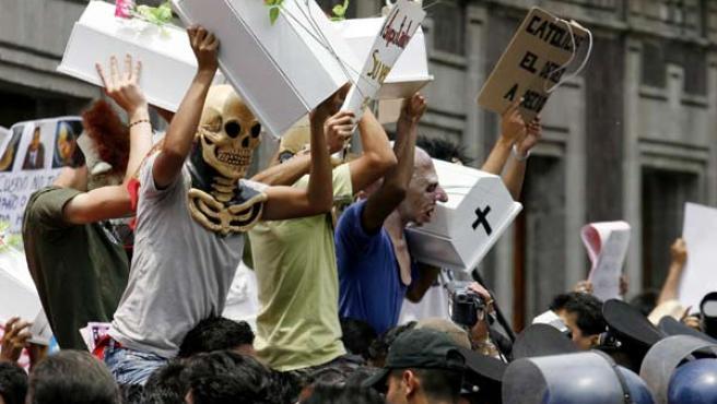 Protestas antiaborto en México. (Foto: REUTERS)