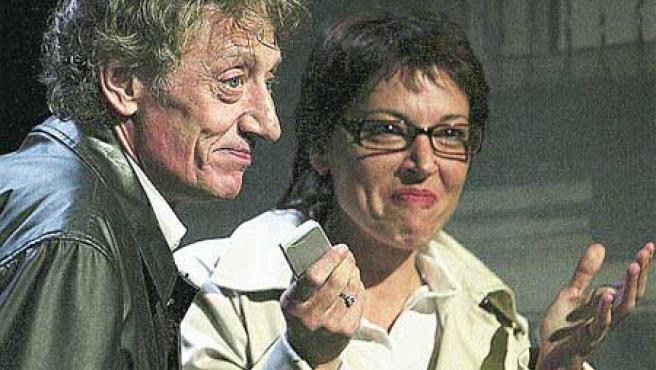 Beatriz Santana y Quique San Francisco, protagonistas de la obra.