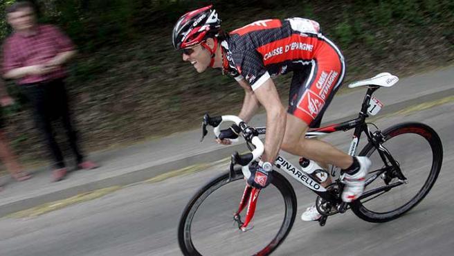 Alejandro Valverde durante la Flecha Valona, en una foto de archivo. (Efe).