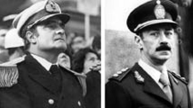 Emilio Massera (dcha) y Jorge Videla (izq) (EFE).
