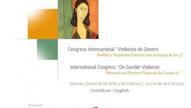 """Cartel del Congreso Internacional """"Violencia de Género"""""""