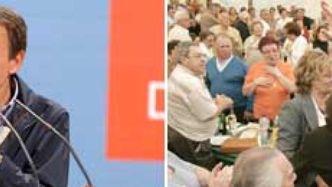 Tanto Rajoy como Zapatero participaron en varios actos electorales en la mañana del sábado.