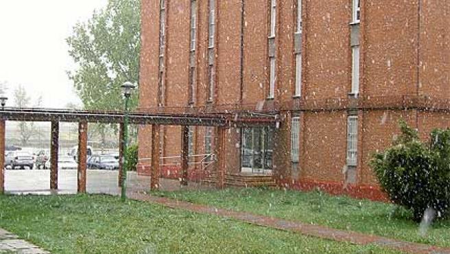 Una imagen de la nevada en Burgos publicada en el blog A vista de cerdo.