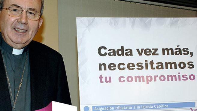 Antonio Algora, obispo de Ciudad Real (ZIPI / EFE).