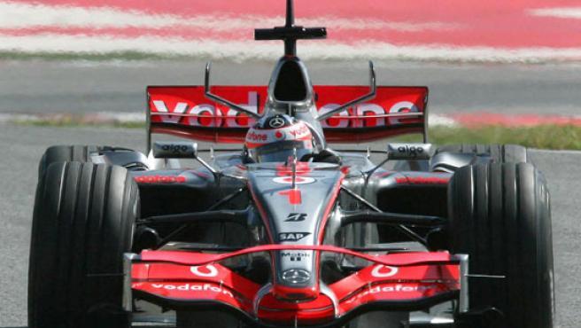 Una imagen del nuevo alerón del monoplaza de Fernando Alonso.