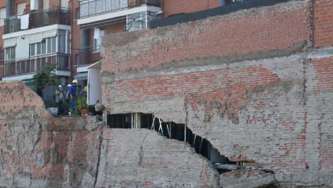 Los vecinos advirtieron las primeras grietas en septiembre