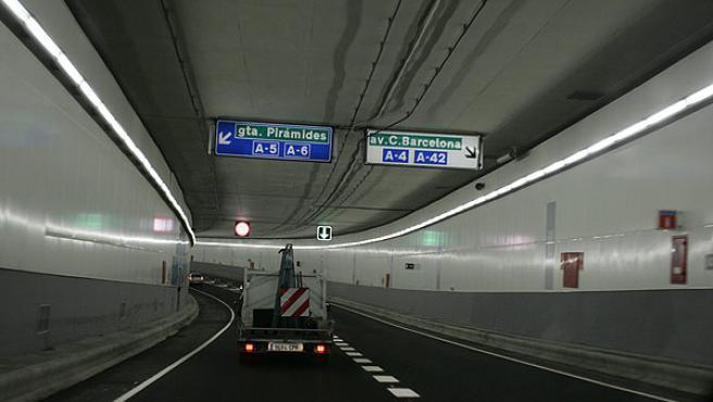 Imagen del túnel del by pass sur de la M-30 (JORGE PARÍS)