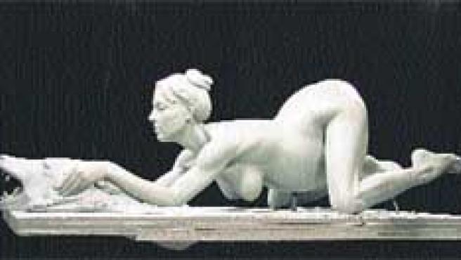 Britney, esculpida embarazada.