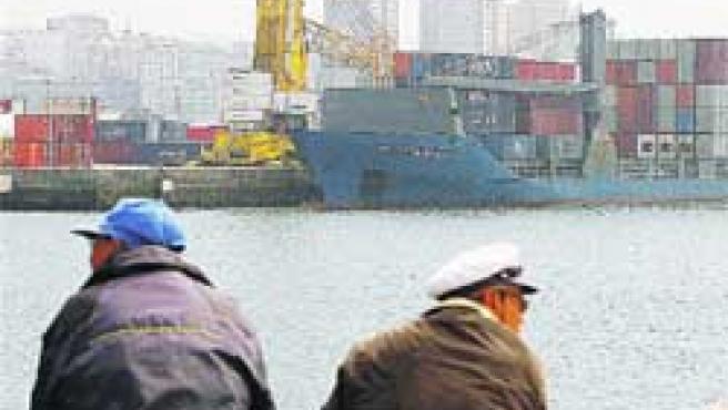El barco holandés Maasdiep. (J. López)