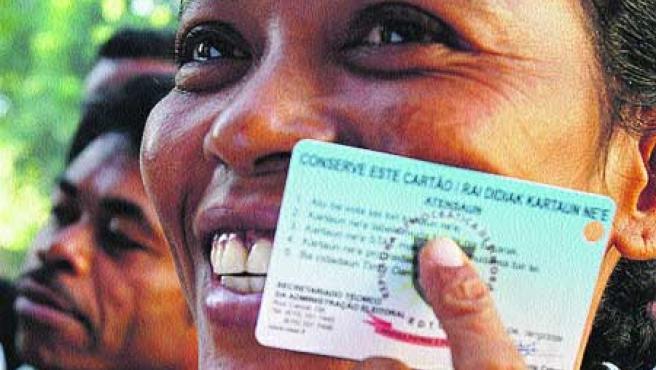 Timorenses votaron ayer para elegir nuevo presidente. (Efe).