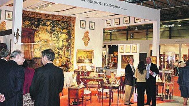 Una imagen del Salón de Anticuarios celebrado el año pasado en la Feria.
