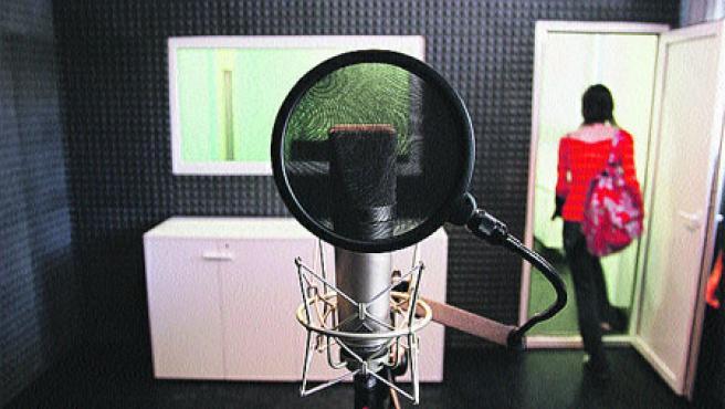 El estudio de grabación del Espacio Joven. (Pablo Elías)
