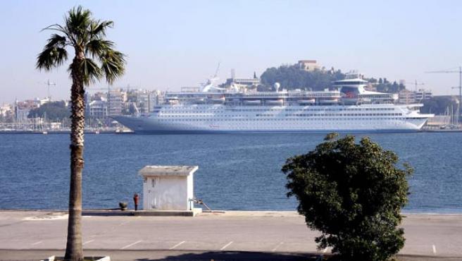 El crucero Thompson Destiny atracó ayer en Cartagena. (ENFOQUE).