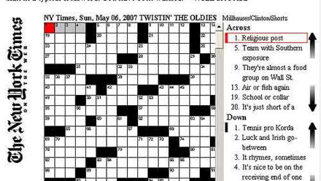 El crucigrama de Clinton en la edición web del 'New York Times'.