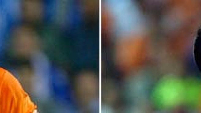 Gesto de decepción de los jugadores del Barça tras la derrota en Getafe.