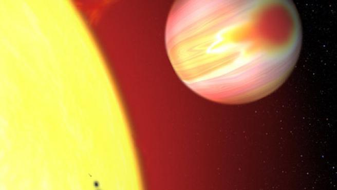 recreación artística del exoplaneta HD 189733b.