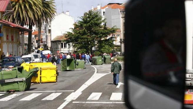 Cortes de tráfico o encierros son el balance de los nueve días de protestas del sector naval.