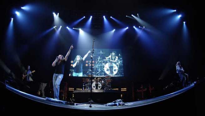 El grupo, en una reciente actuación en San Diego.