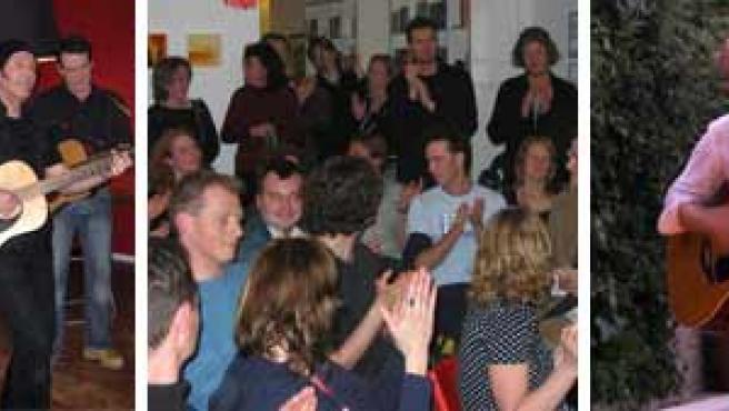 Actuaciones de LITL: Paul de Munnik durante un concierto en Holanda, su público y Rick Treffers en Madrid (Fuente: LITL)