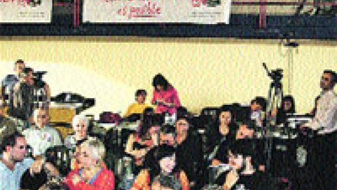 Gaspar Llamazares, pidió ayer el voto para IU «para bajar los humos». (J. Rivas / Ical)