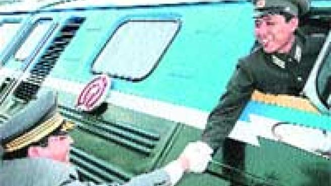 Conductor de un tren surcoreano. (EFE).