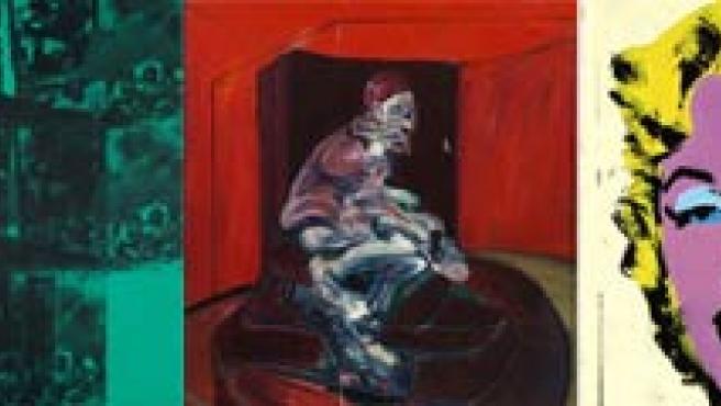 'White Center', de Rothko; 'Green Car Crash', de Warhol; 'Study from Pope Innocent X', de Bacon; 'Lemon Marilyn', de Warhol; y sin título de Rothko.