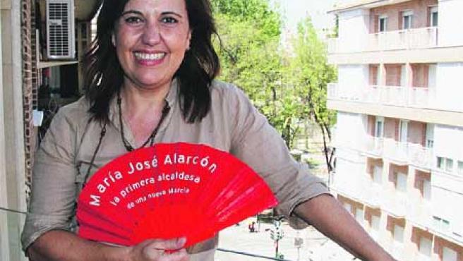 María José Alarcón, candidata del PSOE a la Alcaldía de Murcia.