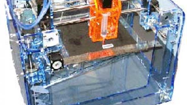 Impresora tridimensional casera. (Foto: Wikipedia)