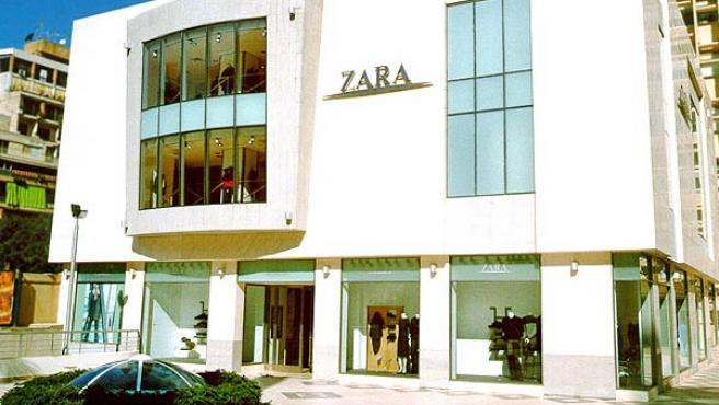 Fachada de una tienda de Zara (ZARA).