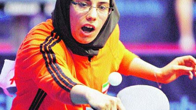 La iraní Mahjoobeh Omrani. (Antonio Bat, EFE)