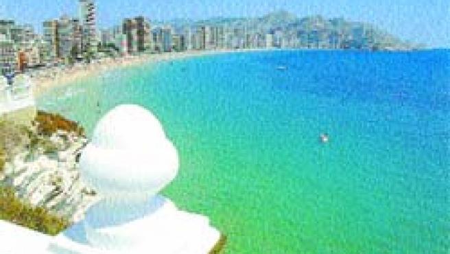 La playa de Levante es uno de los lugares más emblemáticos de la ciudad de Benidorm.