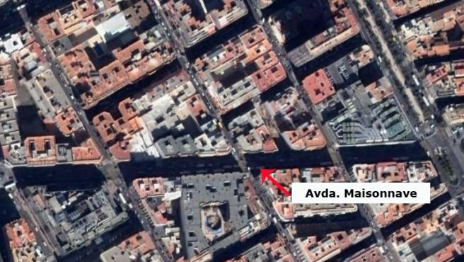 Avenida Maisonnave. (Google Earth).