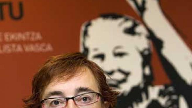 Arantza Urkaregi, candidata de una de las listas que anularon los tribunales (Chema Moya / Efe)