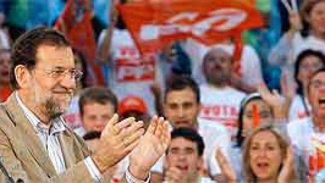 Rajoy en un acto de partido. EFE.