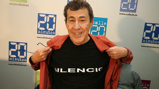 Sánchez Dragó, en una foto de archivo tomada en la redacción de 20minutos.es (Sergio González).