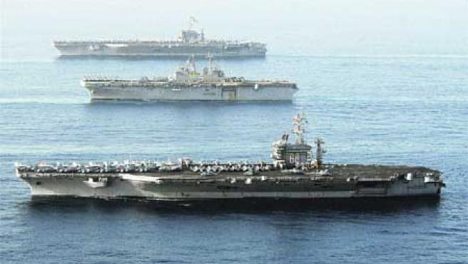 Barcos militares estadounidenses. (US NAVY/Efe).