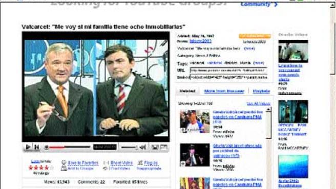 Captura del vídeo de YouTube que ha colgado el PSOE denunciando los hechos y que ayer ya tenía casi 14.000 visitas.