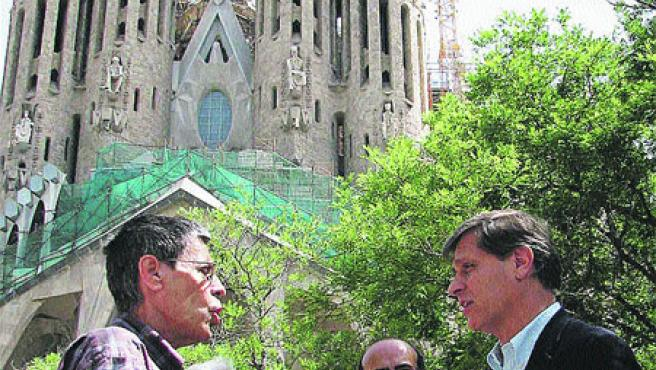 Alberto Fernández Díaz ayer en la Sagrada Família. (Sara Riera / Acn)