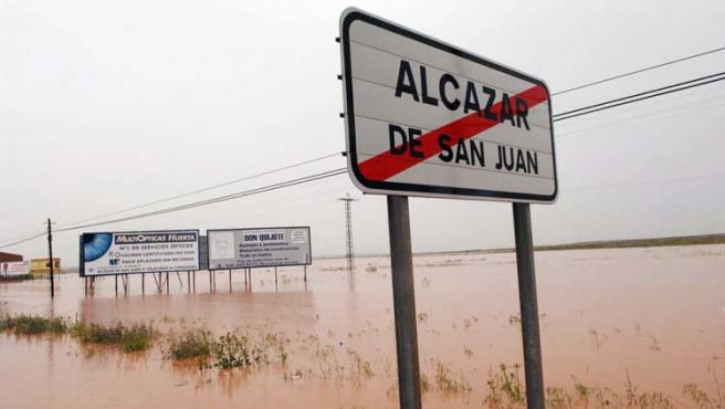La localidad de Ciudad Real fue una de las más afectadas por el temporal de los últimos días.