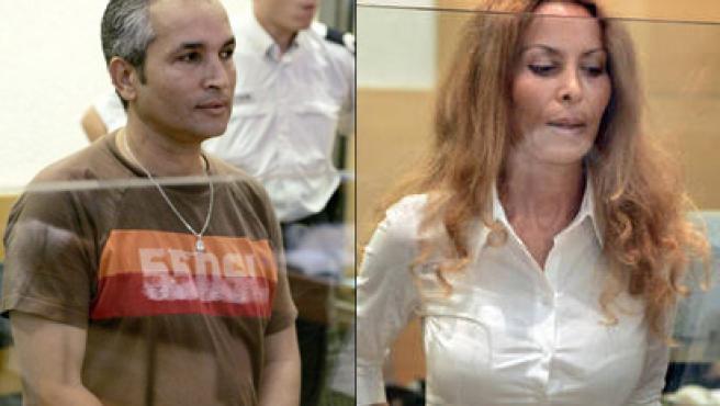 La viuda y su hermano en el juicio por el asesinato del Lord Ashley-Cooper (Foto: BBC)