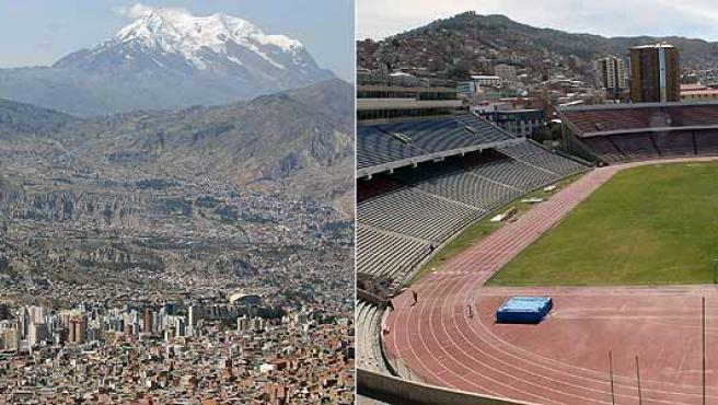La Paz (Bolivia), donde está el estadio Hernando Siles, situado a 3.577 metros. (Efe)