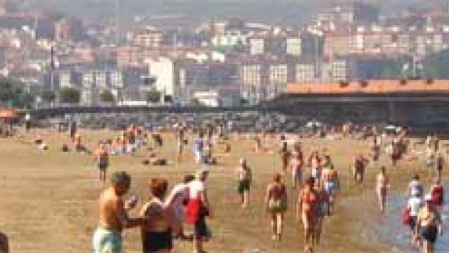 Playa Erega (Bilbao). Foto: Archivo.