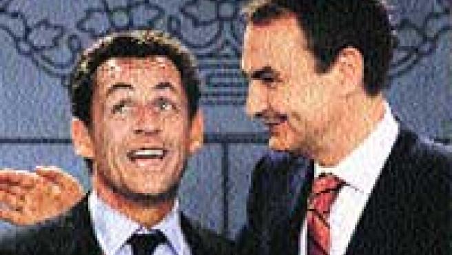 Nicolas Sarkozy y José Luis Rodríguez Zapatero. (Reuters).