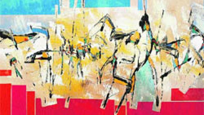 Una de las obras que se exhiben en Carmen del Campo.(R.S.)