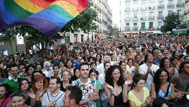 Celebración del Día del Orgullo Gay en Chueca, en 2006.