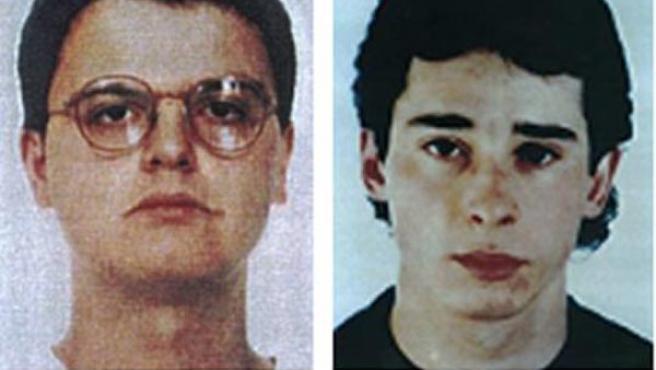 Los miembros del GRAPO, Israel Clemente López y Jorge García Vidal, presuntos autores del asesinato de la empresaria zaragozana Ana Isabel Herrero