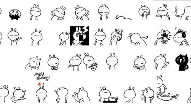 Son los 'Tuzkis' y en China ya son los 'emoticonos' más populares. (Stardrawing)