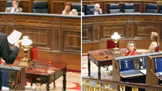 Zapetero y Rajoy durante la sesión de control al Gobierno(Efe)