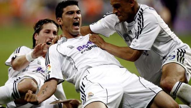 Reyes, en su último partido con el Real Madrid.