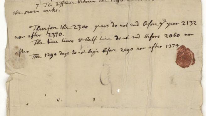 El apocalíptico manuscrito de Newton (Reuters)